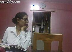 Blonde step aunt London Keyes in office