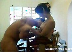 Amazing skinny girlfriend getting naked