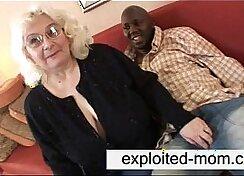 bbw granny gets ebony throbbing cock
