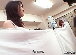 asian budi doxy house laundry and eats yellow wet pussy