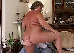 Chubby Mature Wife Gets Cake For Making Her Mas