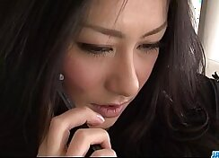 Alluring Japanese In Sexy Brunette Thongs Fucking