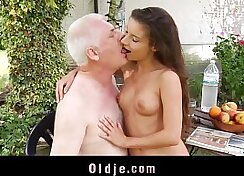 Beautiful cutie seduced by perverted client