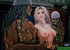 Candi Brown in double penetration