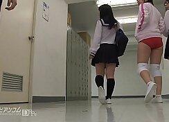 Brunette Ex Girlfriend Handjob Team Blowjob After School