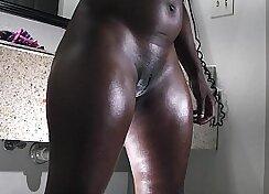 Black Skinned Sista Gets Butt Fucked Hard