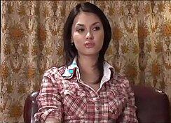 Buxom Asian Girl gives Amazing Blowjob