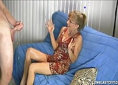 Big dick gets the hd from a horny granny