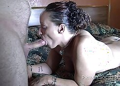 Blonde Slut Takes It In The Mouth