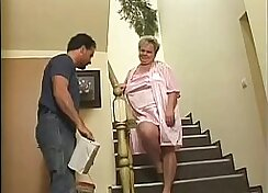 Cheating granny getting punished for stealing