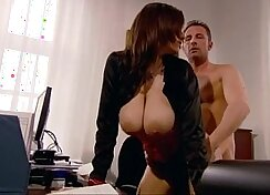 Asian mommy got fucked from behind while she sucked off her boss