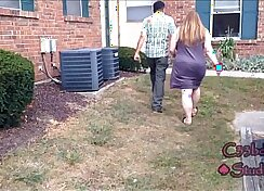 Angry wife slut gets whipped hard by two neighbors