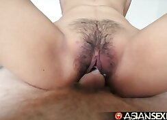 asian pounds young girls hairy pussy