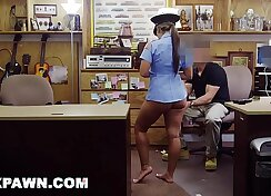 Cop slut fucked in heather gloves scandalized by johnny police