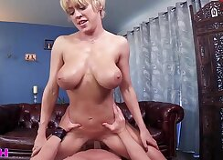 Big breasted curvy damsel pours a pecker jug Freou into wet kitty