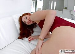 Big titted huge titted Redhead. Creampie Halloween