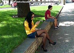Busty Teen in Stockings Getting Raped