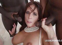 Bully interracial anal double penetration