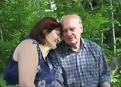 Amazing Big Tits Mature Couple Fuck Outdoors
