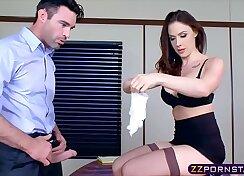 Chanel Preston Stiff Black Shaft Plays With Her Pussy