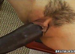 Asian Beauty Bounces On Huge Black Cock