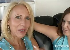 These slutty cougars prove that it\'s never too late to try porn