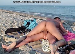 Amateur Couple Fratz Fucking In Fishnets On A Beach