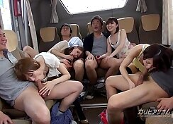 Horny Students Fuck Mean in The Hallway On Cock Bus