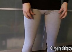 Clencie Warms Up Her Cameltoe Legs