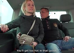 Cheating busty wife fucks a stranger in traffic & mea melone record it