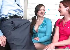 Cute Chick Does A Short Instruction to a Piano Teacher And Well